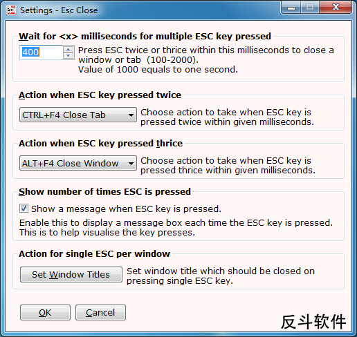 Esc Close - 用 Esc 键关闭窗口丨www.apprcn.com 反斗软件
