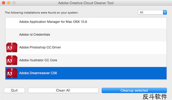 Adobe Creative Cloud Cleaner Tool - Adobe CC 系列软件清理工具[Mac、Windows]丨www.apprcn.com 反斗软件