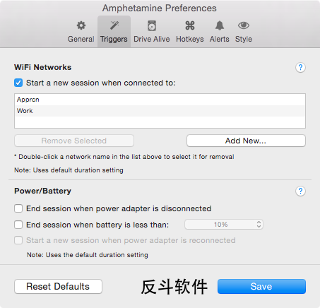 Amphetamine - 让屏幕保持常亮[OS X]丨www.apprcn.com 反斗软件