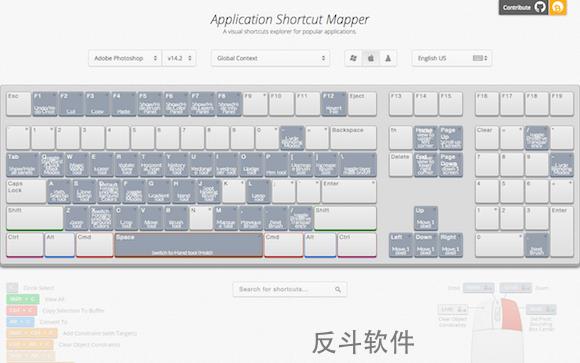 Application Shortcut Mapper - 软件快捷键图谱丨www.apprcn.com 反斗软件