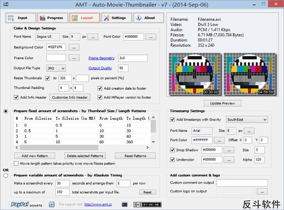 Auto-Movie-Thumbnailer - 批量自动定时生成视频缩略图丨www.apprcn.com 反斗软件