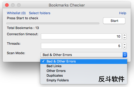 Bookmarks Checker - 书签检查工具[Firefox 扩展]丨www.apprcn.com 反斗软件