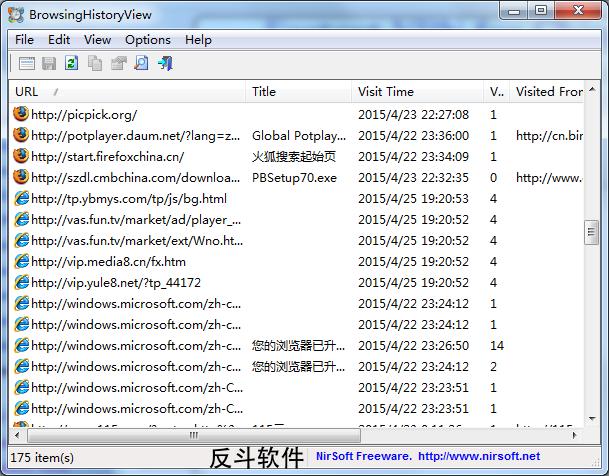 BrowsingHistoryView - 查看浏览器历史记录丨www.apprcn.com 反斗软件