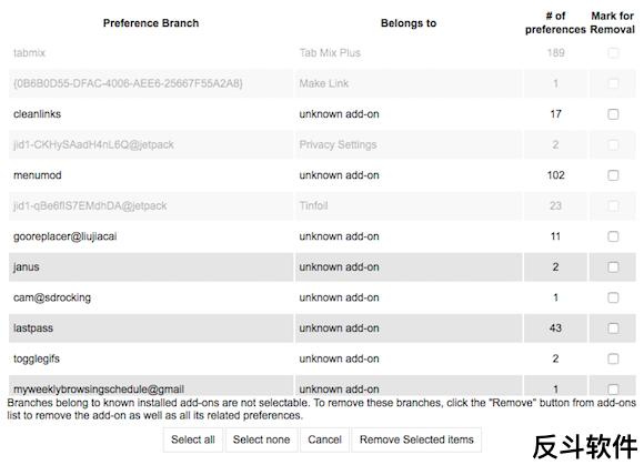 Clean Uninstall - 彻底清理扩展配置文件[Firefox 扩展]丨www.apprcn.com 反斗软件