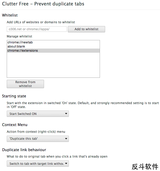 Clutter Free - 自动关闭重复的标签页[Chrome 扩展]丨www.apprcn.com 反斗软件