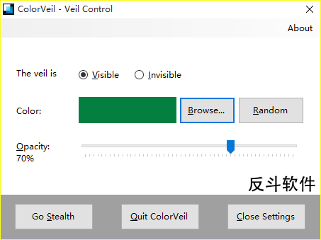 ColorVeil - 为屏幕添加一层纯色图层丨www.apprcn.com 反斗软件