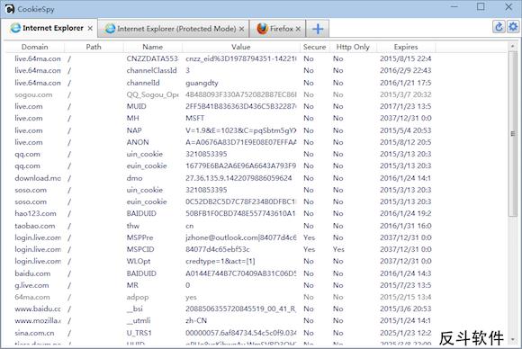 CookieSpy - 在一处管理所有浏览器中的 cookie丨www.apprcn.com 反斗软件