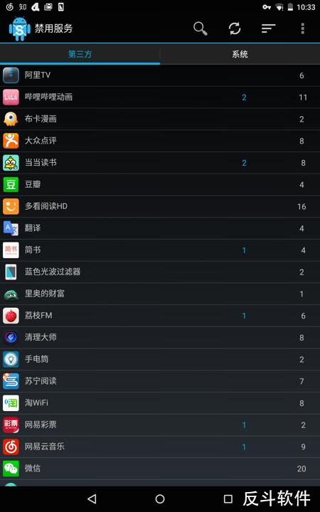 禁用服务 - 禁用应用的部分后台服务[Android]丨www.apprcn.com 反斗软件
