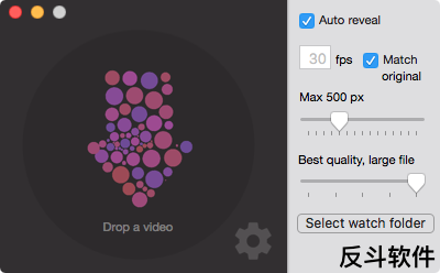 Drop to GIF - 快速将视频转换为 GIF 动画图片[OS X]丨www.apprcn.com 反斗软件