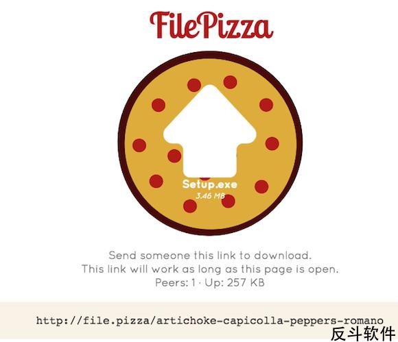 File Pizza - 使用浏览器直接分享文件[Web]丨www.apprcn.com 反斗软件