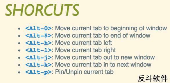 MOTA - 使用键盘控制标签页移动[Chrome 扩展]丨www.apprcn.com 反斗软件