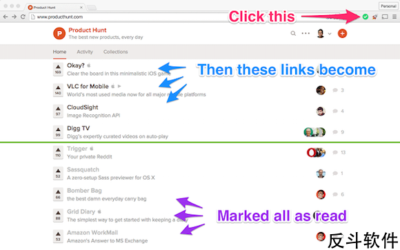 Mark All as Read - 一键将网页链接设置为已读[Chrome 扩展]丨www.apprcn.com 反斗软件