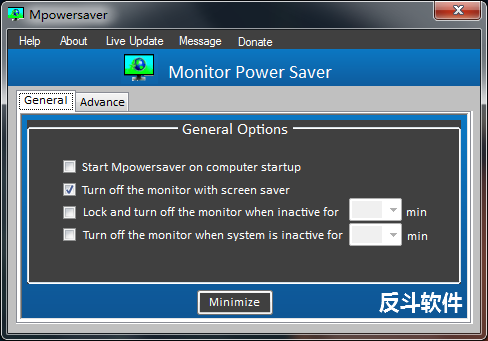 Mpowersaver - 当屏保出现时自动关闭屏幕丨www.apprcn.com 反斗软件