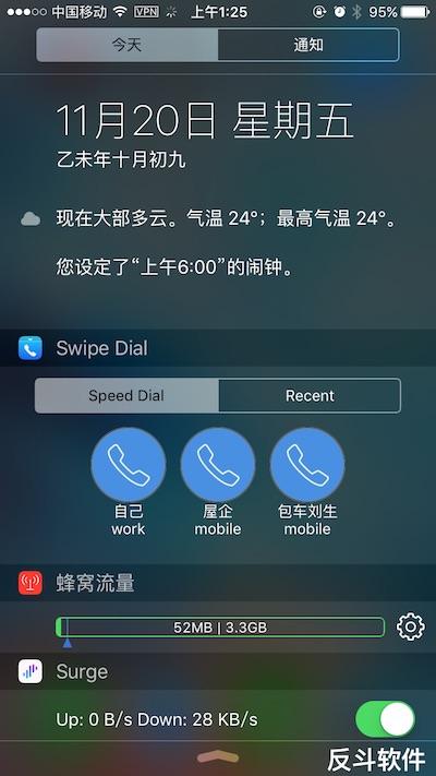 Swipe Dial - 在通知中心快速呼叫特定电话[iPhone]丨www.apprcn.com 反斗软件