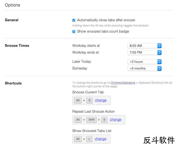 Tab Snooze - 标签页休眠[Chrome 扩展]丨www.apprcn.com 反斗软件
