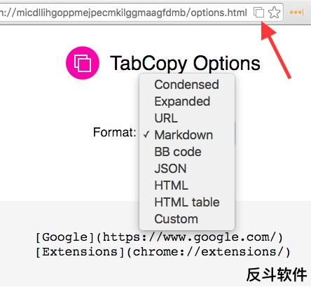 TabCopy - 快速复制 Chrome 所有标签页的标题和地址并多格式输出[Chrome 扩展]丨反斗软件 www.apprcn.com