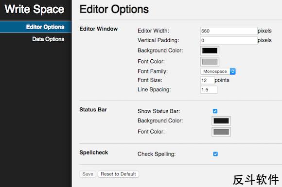 Write Space - 全屏文本编辑工具[Chrome 应用]丨www.apprcn.com 反斗软件
