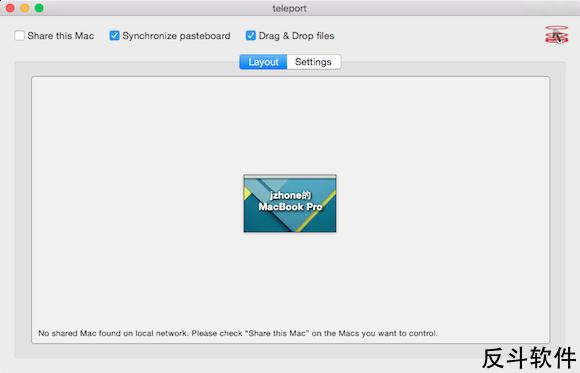 teleport - 用一套鼠标键盘控制多台 Mac 电脑[OS X]丨www.apprcn.com 反斗软件
