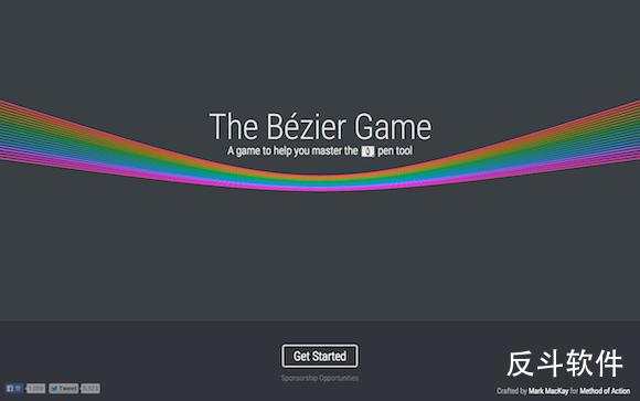 The Bézier Game - 通过游戏学习 Photoshop 中钢笔的使用丨www.apprcn.com 反斗软件