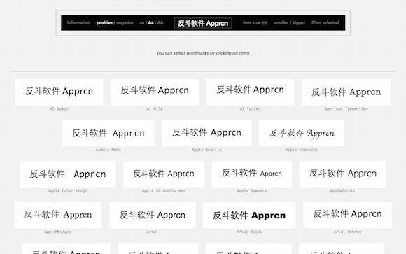 wordmark.it - 在线预览电脑内的字体丨www.apprcn.com 反斗软件